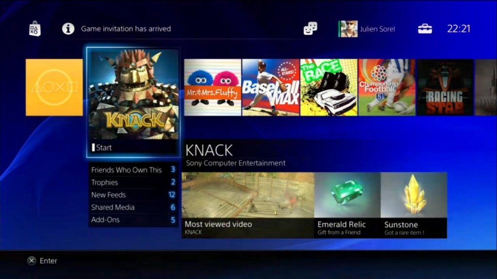 PS4 Interface 01 1024x575 PlayStation 4: So sieht das neue Interface aus