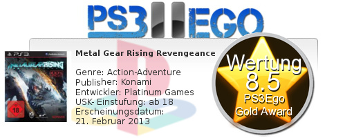 Metal Gear Rising Revengeance Review Bewertung 8.5 Review: Metal Gear Rising: Revengeance   Knallharte Cyber Action im Test