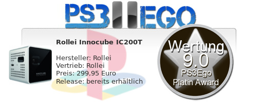 Rollei Review Bewertung 9.0 Review: Innocube IC200T Pico Projektor im Test