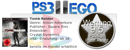 Tomb Raider Review Bewertung 9.5 Review: Tomb Raider im Test