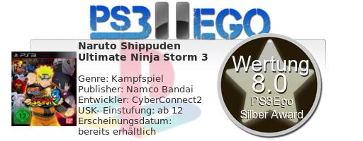 Ultimate Ninja Review Bewertung 8.0 Review: Naruto Shippuden: Ultimate Ninja Storm 3 Test   Auf dem Weg zum Konohagakure