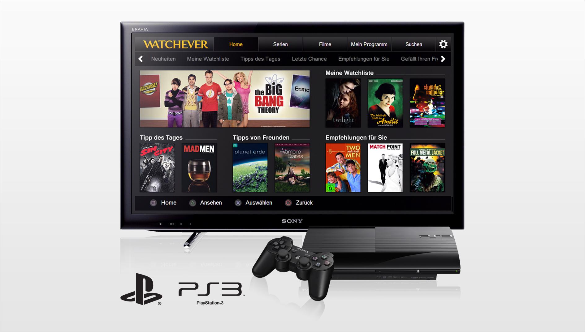 Watchever   Video on Demand App für PS3 und PS4 im Detail
