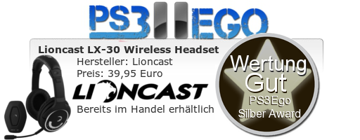 Lioncast LX 30 Headset Review Bewertung Gut Hardware Review: LX 30 Wireless Headset im Test