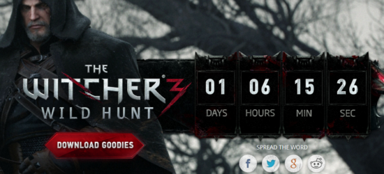 The Witcher 3 Wild Hunt Countdown The Witcher 3: Wild Hunt   Countdown deutet auf morgige Ankündigung
