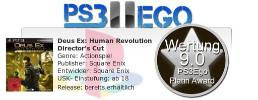 Deus Ex Human Revolution Directors Cut Review Bewertung 9.0 Review: Deus Ex Human Revolution: Directors Cut   Neuauflage bei uns im Test