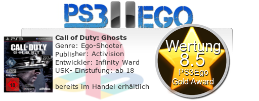 Call of Duty Ghosts Review Bewertung 8.5 Review: Call of Duty Ghosts   Eine veränderte Welt im Test