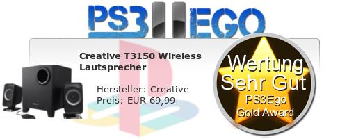 Creative T3150 Wireless Lautsprecher Review Bewertung Sehr Gut Review: Creative T3150 Wireless Lautsprecher im Test