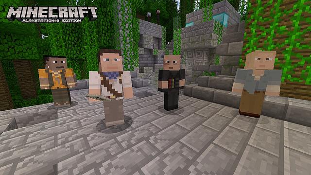 minecraft ps3 killzone Minecraft: Playstation 3 Edition   PS3 Aktualisierung bringt Uncharted , Killzone  und Sly Designs in das Spiel