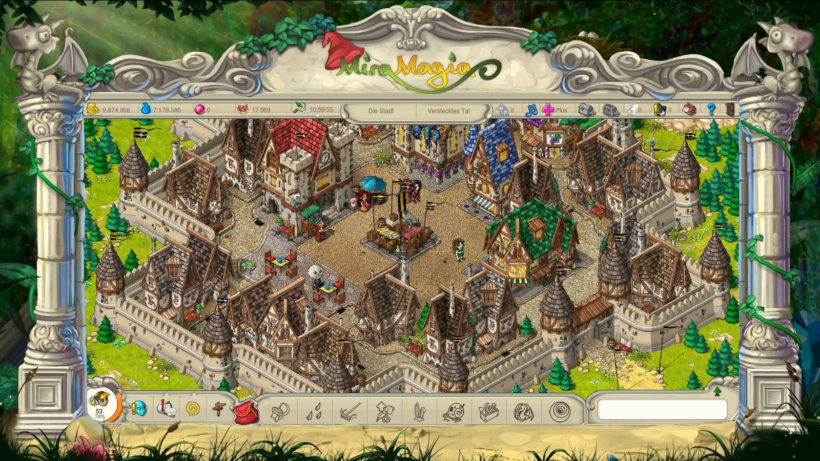 Miramagia Screenshot 02 Miramagia   Das nächste große Browsergame für Magie Farmer